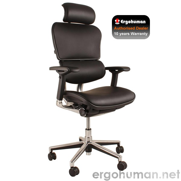 Ergohuman Black Leather Chair