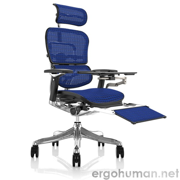Ergohuman Ergonomic Office Chair with Leg Rest and Notebook Arm
