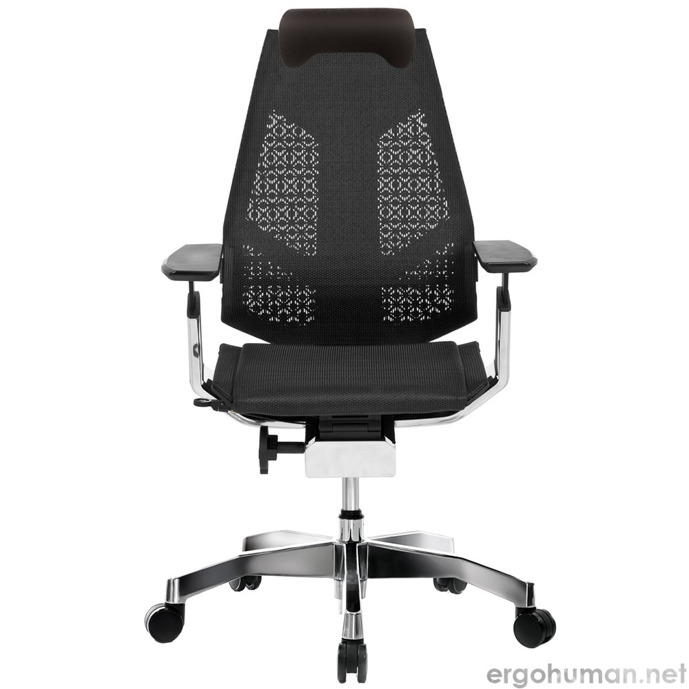 Genidia Mesh Chair with Neck Roll and Standard Polished Base