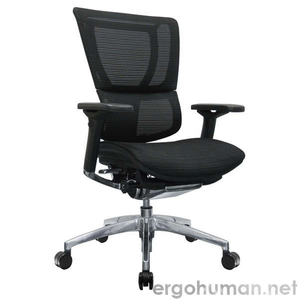mirus mesh office chair black polished frame | mirus chair| ergohuman
