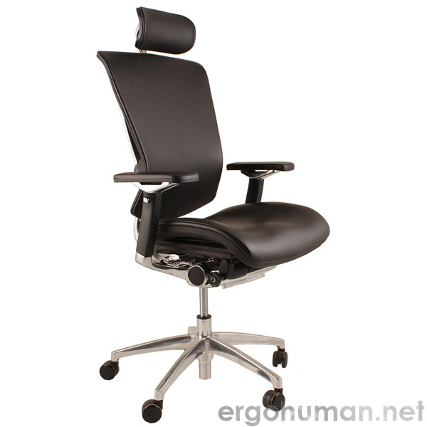 Leather Computer Chairs nefil leather office chair with polished frame | ergohuman
