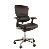 Ergohuman Black Leather Office Chair No Head Rest