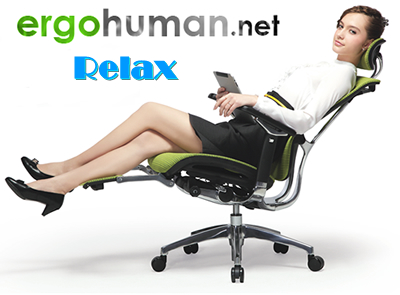 Relax with an office chair with leg rest from ergohuman.net