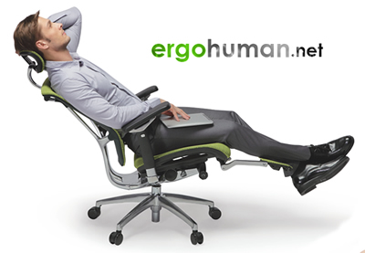 Reclining Office Chair with Leg Rest Support