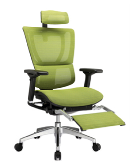 Mirus Office Chair with fold out Leg Rest