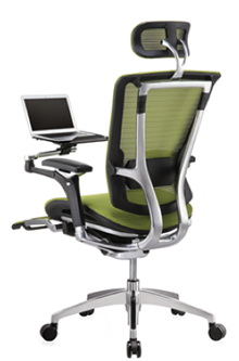 Nefil Reclining Office Chair with Laptop Table