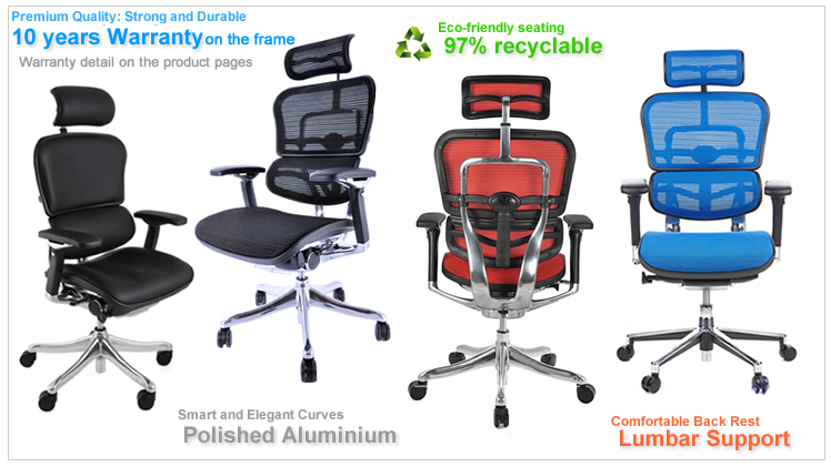 Ergohuman Range of Ergonomic Office Chairs