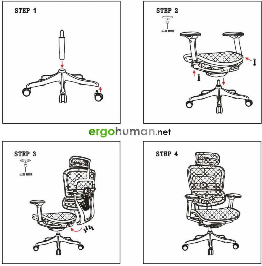 Ergohuman - Assembly Instructions