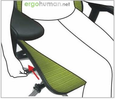 Backrest Tilt Angle Adjustment - Ergohuman Chair Adjustments