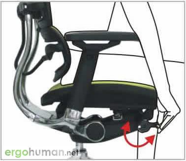 Backrest Quick or Slight Tilt Tension Adjustment - Ergohuman Chair Adjustments