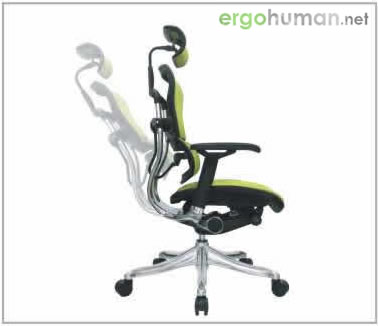 Backrest Quick or Slight Tilt Tension Adjustment  - Ergohuman Chair Adjustments