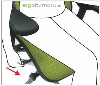 Seat Depth Adjustment - Ergohuman Chair Adjustments