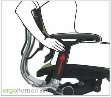 Armrest Height Adjustment - Ergohuman Chair Adjustments