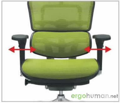 Arm Pad Width Adjustment - Ergohuman Chair Adjustments