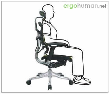 Seat Height Adjustment  - Ergohuman Chair Adjustments