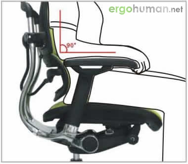 Armrest Height Adjustment - Ergohuman Chair Adjustments
