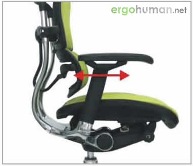 Arm Pad Forward and Backward Adjustment - Ergohuman Chair Adjustments