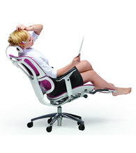 Mesh Office Chairs with Leg rests
