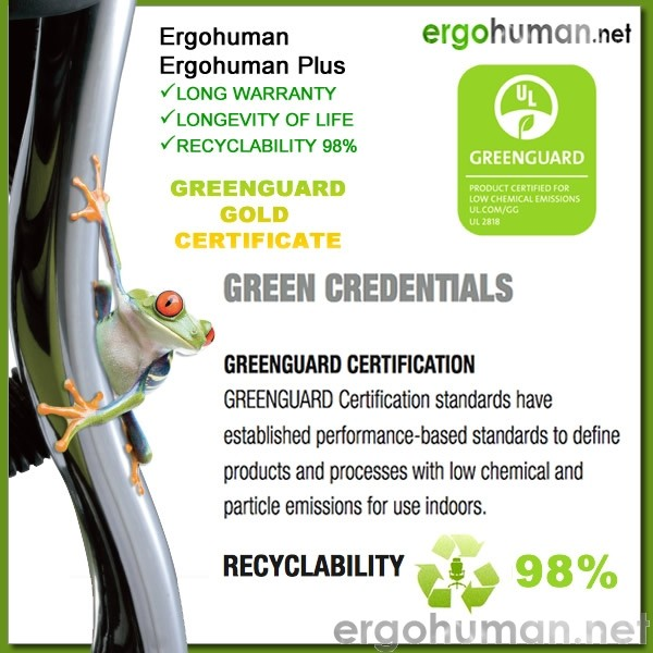 Ergohuman Chair Sustainability Recyclability Eco-friendly