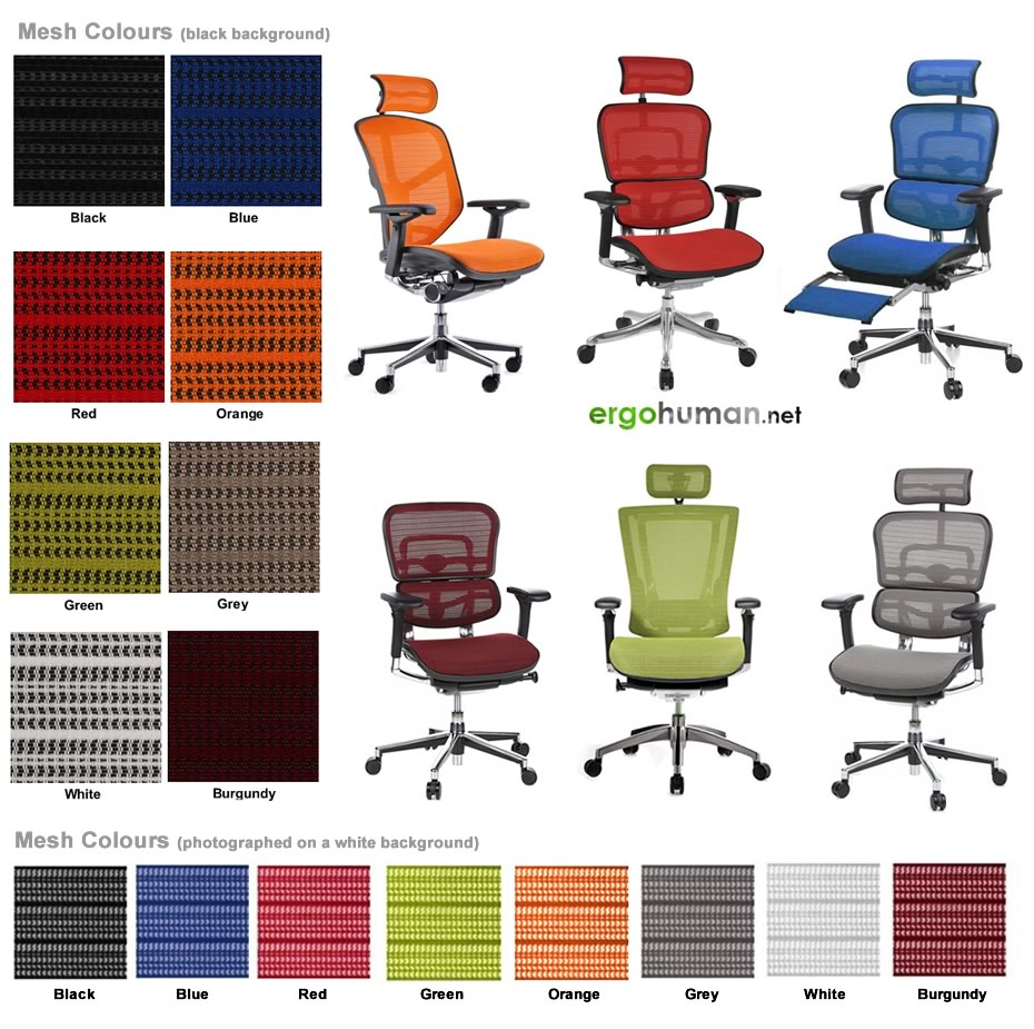 mesh chairs colours