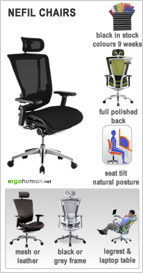 ergonomic office chairs - Nefil Office Chairs - mesh or leather