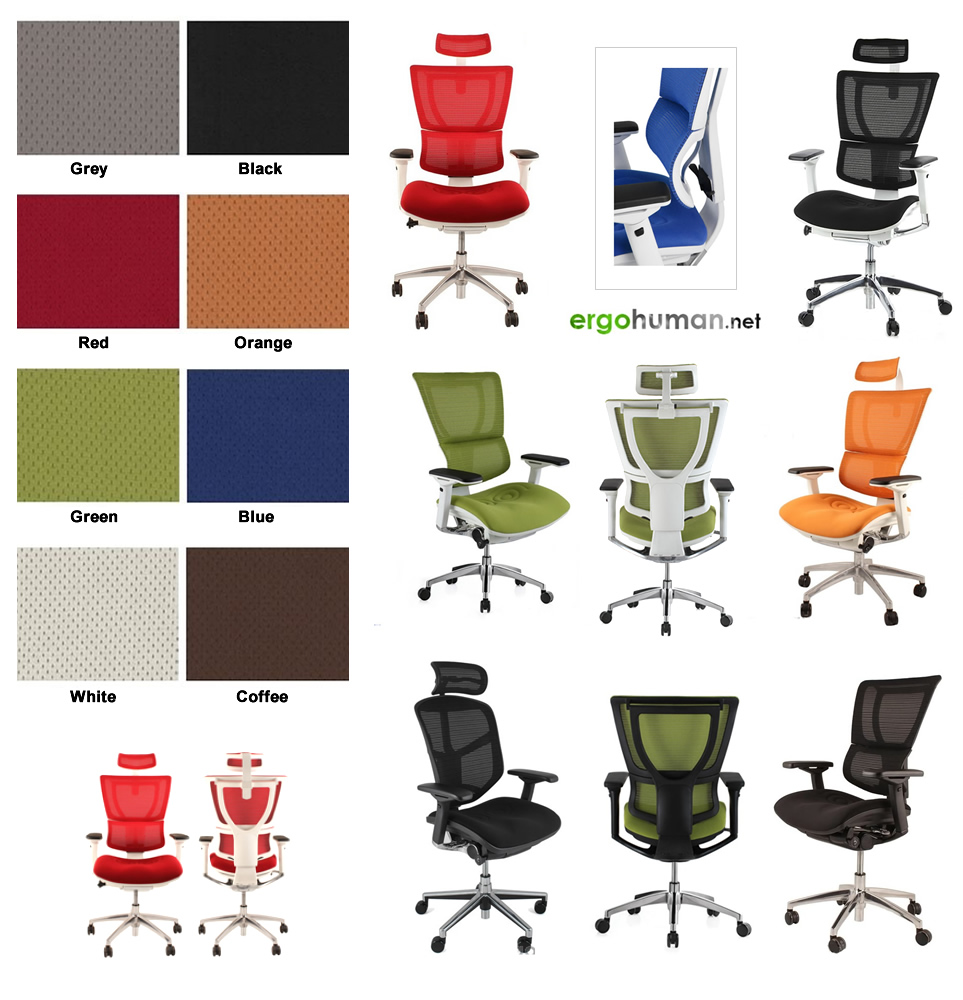 Mirus Chairs Colours - Fabric Colours