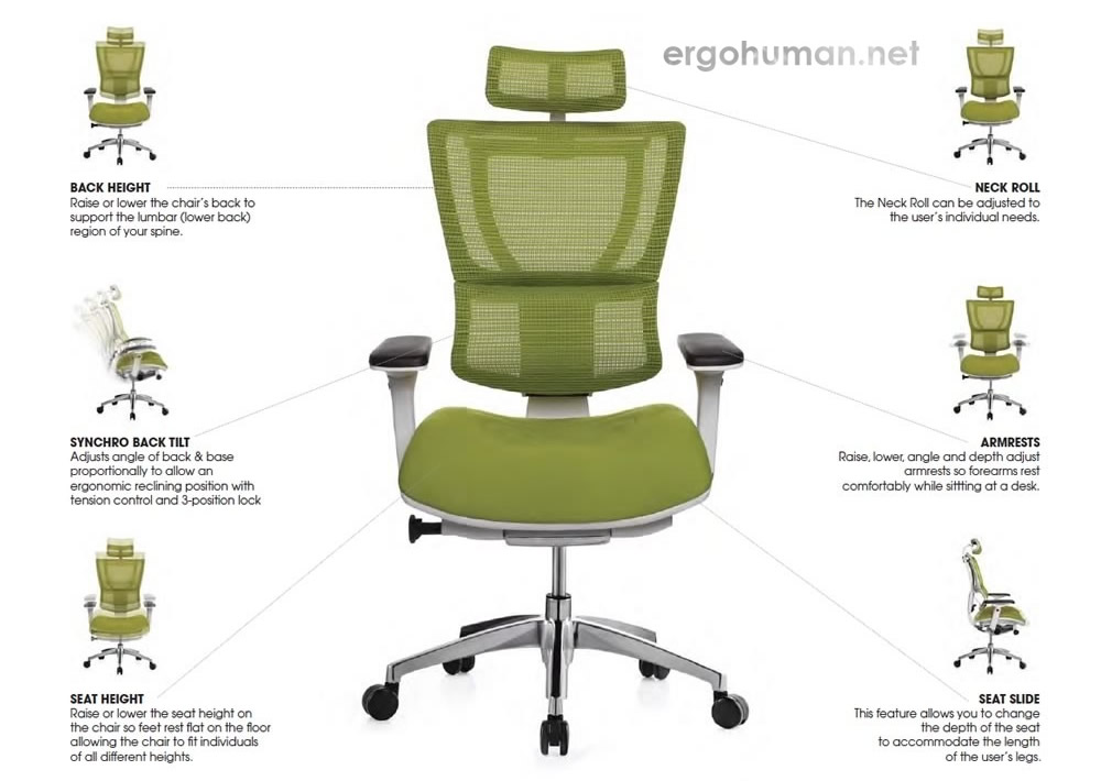Mirus Chair Adjustments - Adjustable Chair