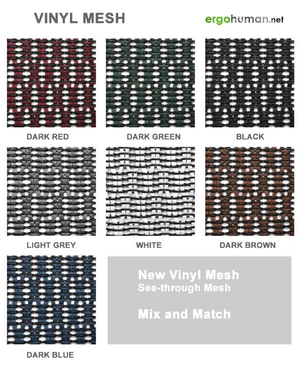 Vinyl mesh chairs colours
