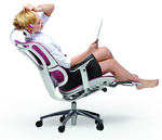 Mirus Reclining Office Chair with Leg Rest Support