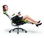Reclining Office Chair with laptop arm