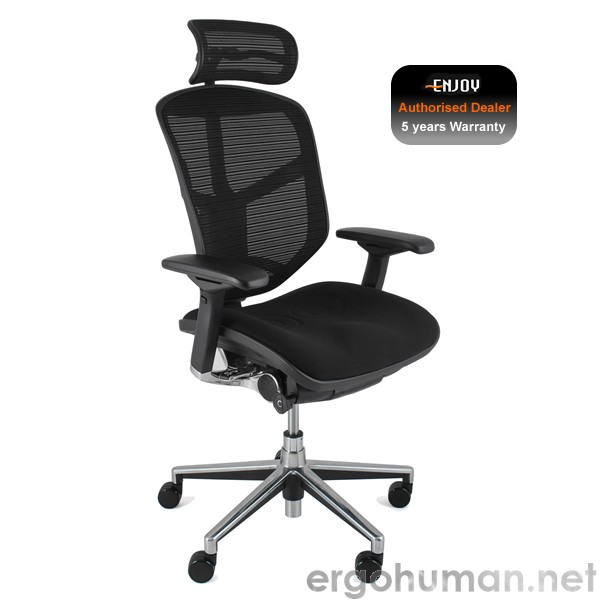 Enjoy Fabric Seat Mesh Back Office Chair