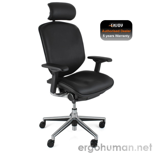 Enjoy Leather Office Chair with Headrest