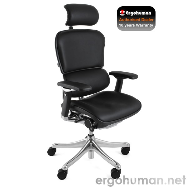 Ergohuman Plus Black Leather Office Chair