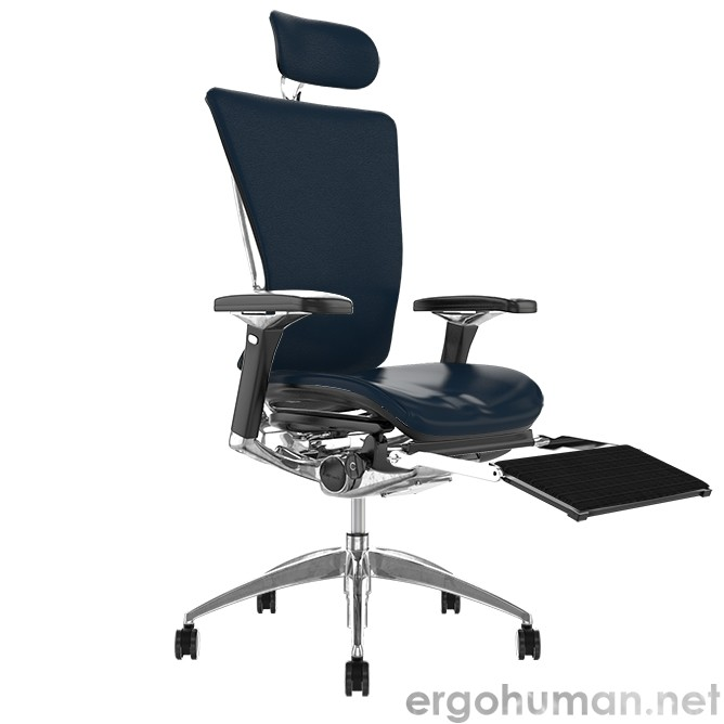 Nefil Leather Office Chair With Leg Rest and Head Rest