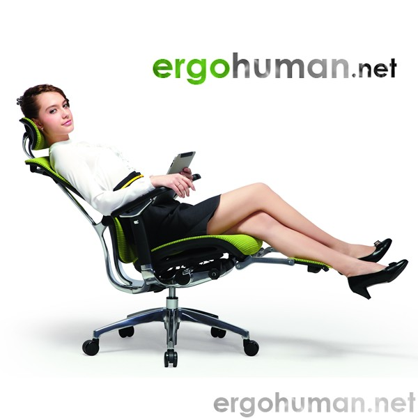 Nefil Mesh Office Chair With Polished Frame Ergohuman