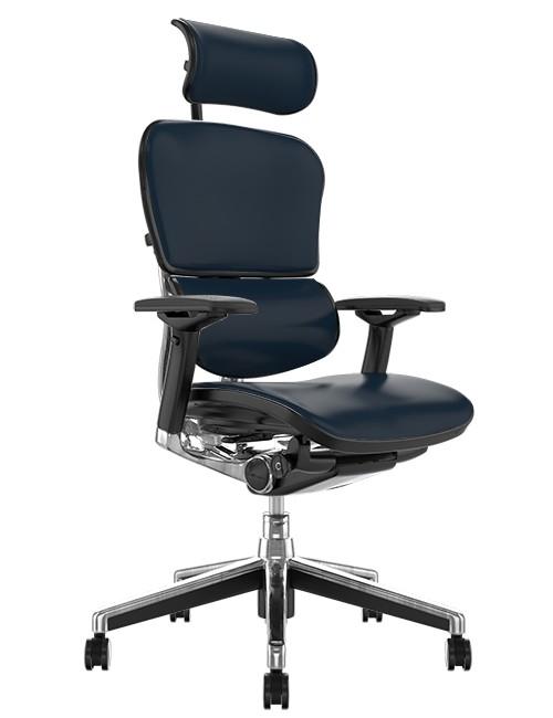 Ergohuman Elite Leather Office Chair with Headrest