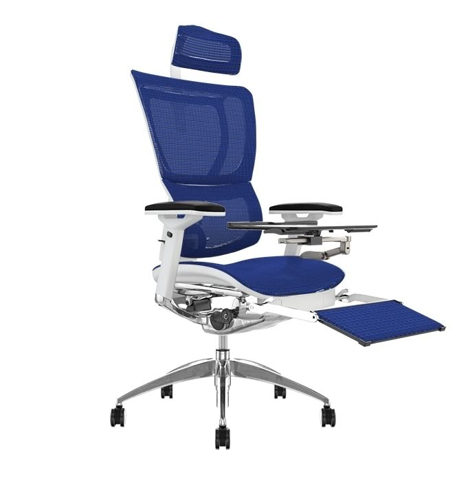 Mirus Office Chair with Head Rest & Leg Rest and Notebook arm