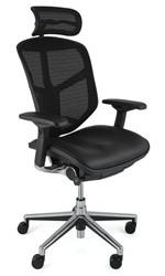 Enjoy Chair Leather Seat Mesh Back