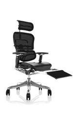 Ergohuman Plus Leather Seat Mesh Back with Leg Rest