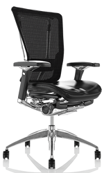 Nefil Office Chair Leather Seat Mesh Back no Head Rest