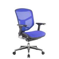 Enjoy Blue Mesh Office Chair no Head Rest