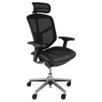 Enjoy Elite Chair Leather Seat Mesh Back