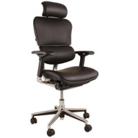 Ergohuman Leather Office Chair with Headrest