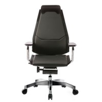 Genidia Leather Office Chair with Neck Roll