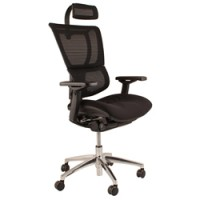 Mirus Full Mesh Office Chair With Headrest And Black Frame
