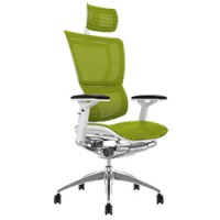 Mirus Full Mesh Office Chair with Headrest and White Frame
