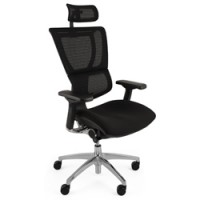 Mirus Mesh Office Chair Black Polished Frame Neck Rest