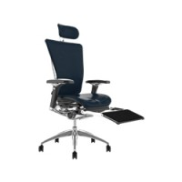 Nefil Leather Office Chair With Leg Rest, Head Rest and Notebook Arm