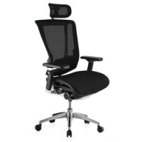 Nefil Mesh Office Chair With Headrest And Polished Frame