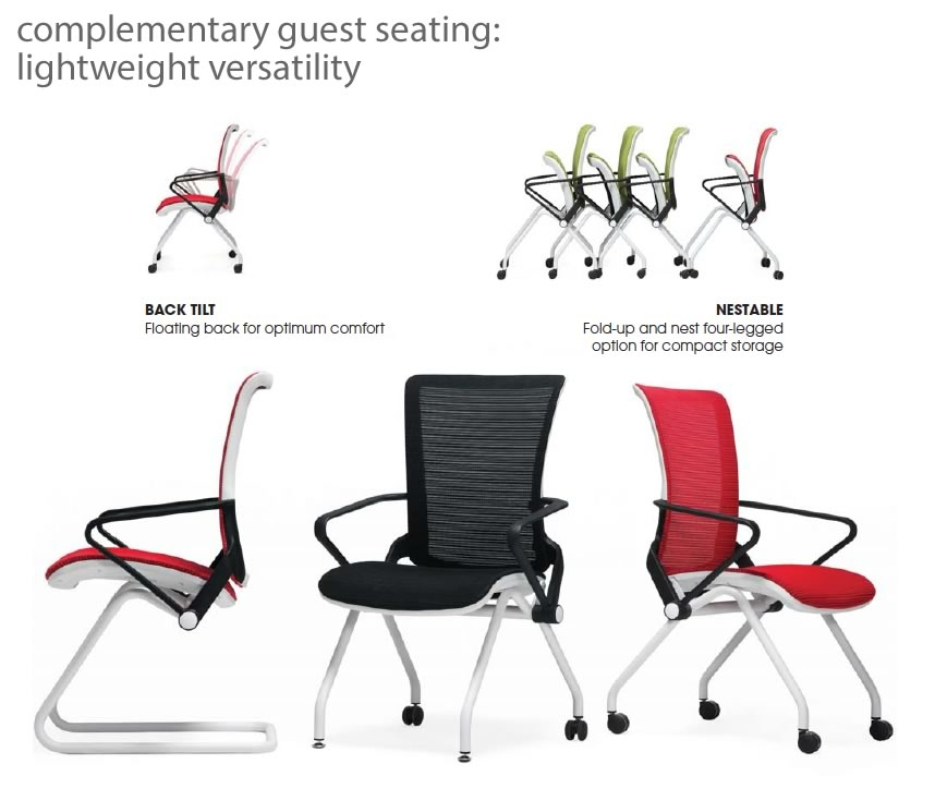 Lii Guest Chair - Mesh Visitor Chair